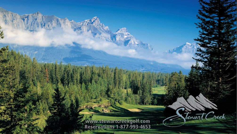 Hope your Saturday is amazing! Download our beautiful yardage card here> #canmore #golf #yyc