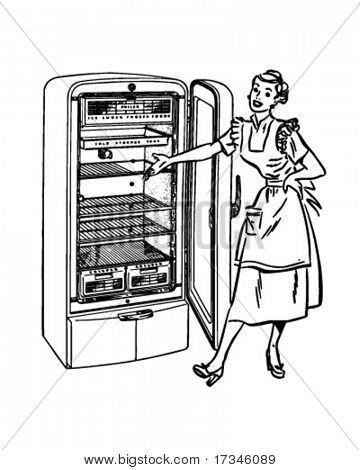 Stock Vector By Retroclipart Vintage Refrigerator Stock Vector Clip Art