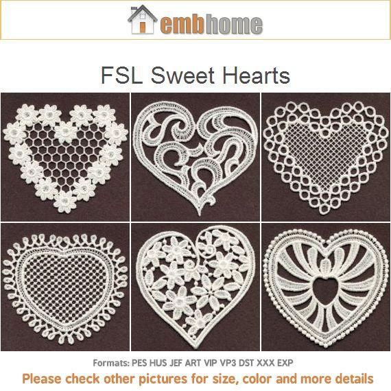 Fsl Sweet Hearts Free Standing Lace Valentine Love Ornament Machine