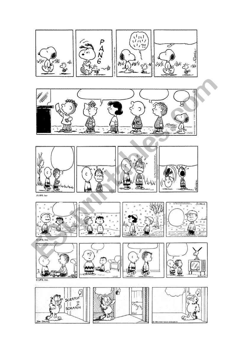 garfield comic strip template  PEANUTS & GARFIELD BLANK COMIC STRIPS 7/7 | Comic strip ...