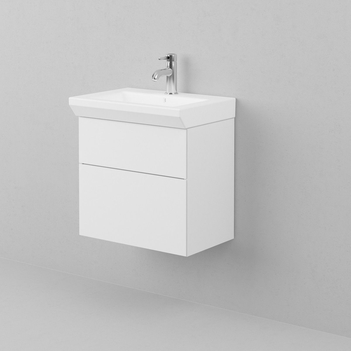 Aspen-Allaskaappi Lysan 55 alakaappi,, 2 laatikkoa, valkoinen, 535x570x340mm