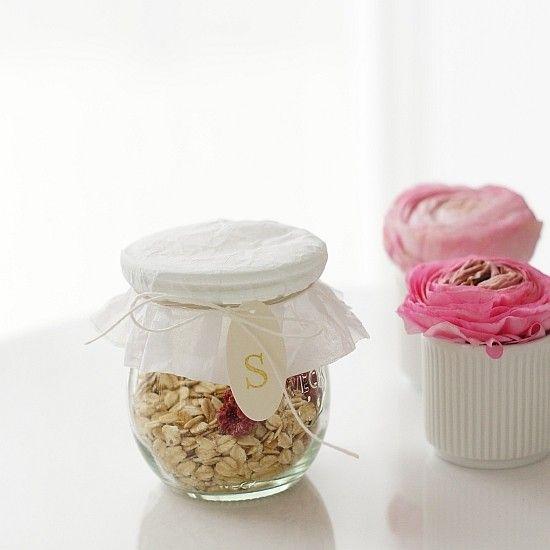 Müsli im Weckglas für Sarah, Silke oder Sven #weckgläserdekorieren