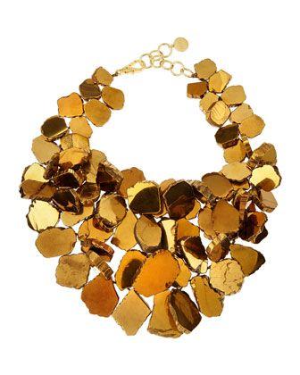 Nest Gold-Plated Quartz Cluster Necklace - Neiman Marcus