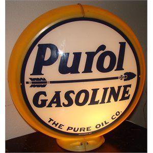 Purol Gasoline Gas Pump Globe