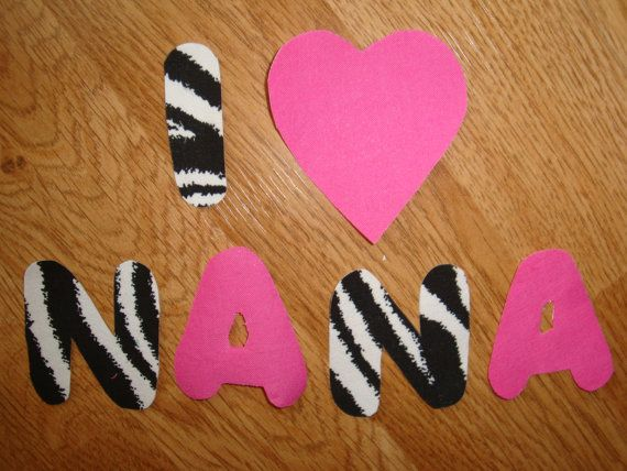Iron On Applique I LOVE NANA Can Do Any by ...