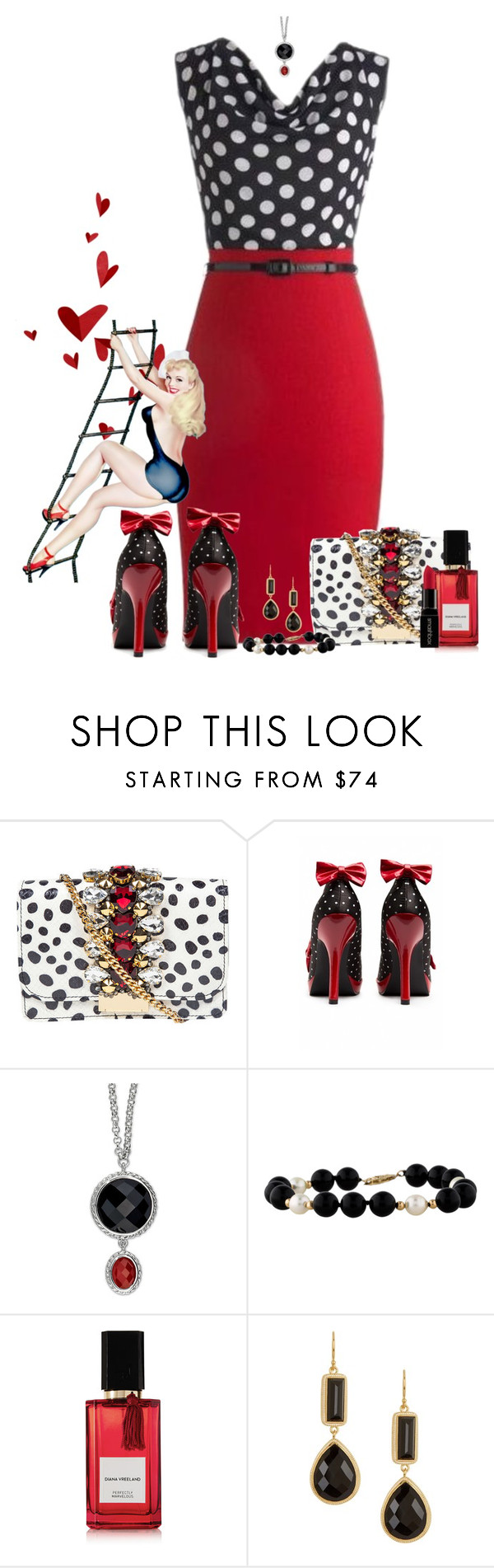 """""""Untitled #289"""" by melanie-westfall ❤ liked on Polyvore featuring moda, GEDEBE, Pinup Couture, Diana Vreeland Parfums, Anna Beck, Smashbox, women's clothing, women's fashion, women e female"""