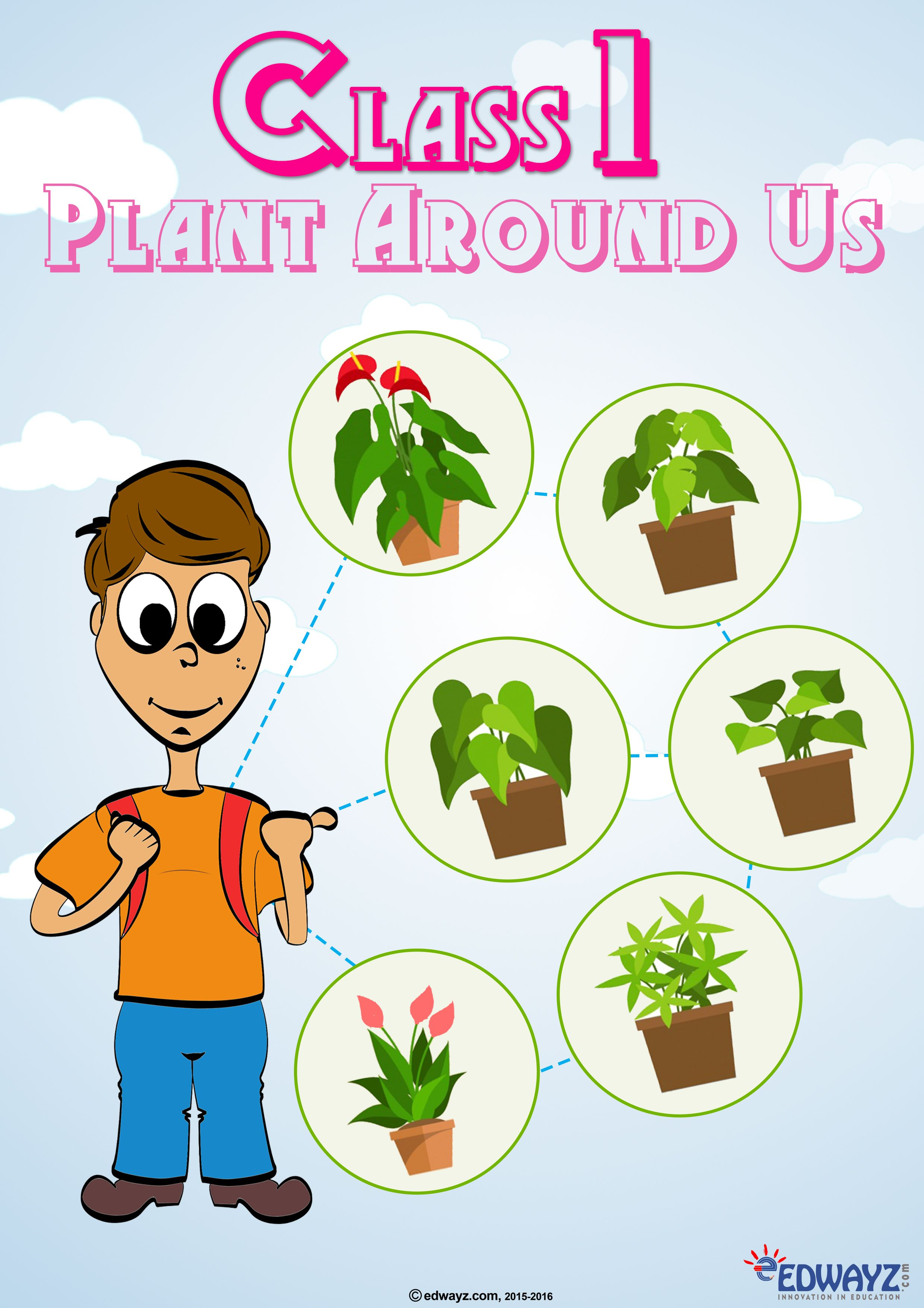 Evs Plants Class1 Edwayz Funlearning Worksheets For