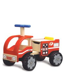 Having some ride-on toys will help the kids improve their gross motor skills and what better than combining it with learning about the importance of fire safety and the vital job that our firefighters do! This Wonderworld Ride-on Fire Engine is perfect for this. #DKLdreamplayroom
