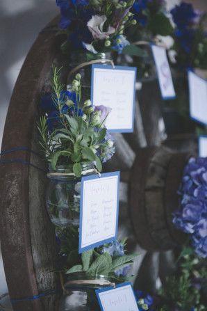 Tableau Matrimonio Azzurro : Azzurro e viola per un matrimonio country tableau matrimonio
