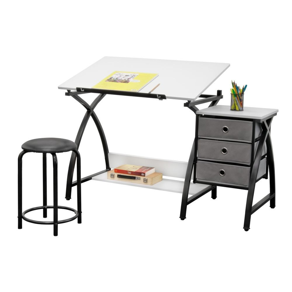 Excellent Kids Art Table Craft Drawing Adjustable Drafting Desk With Bralicious Painted Fabric Chair Ideas Braliciousco