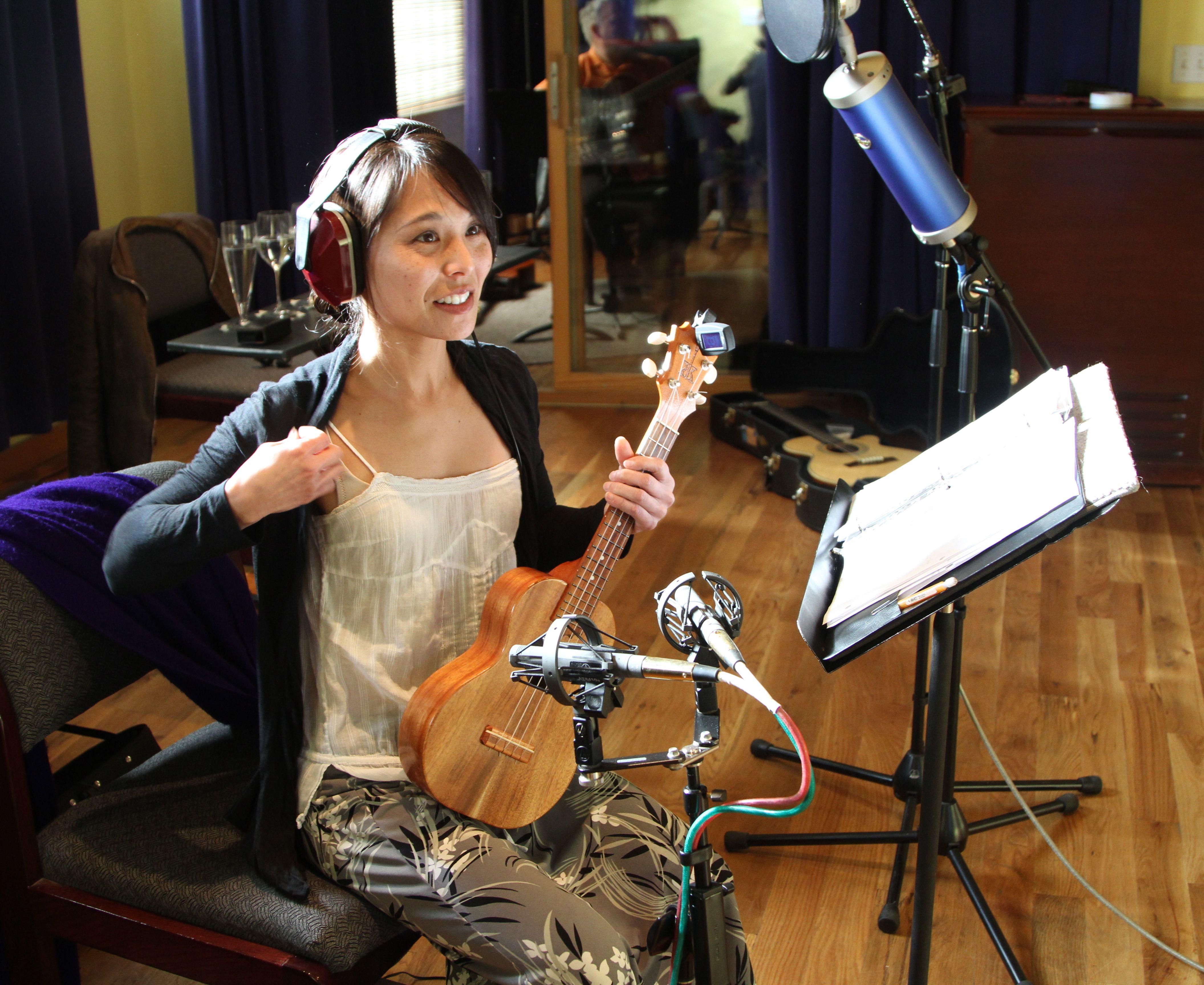 Kim in the studio.