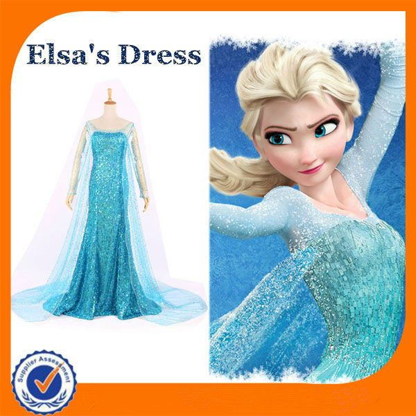 Custome Size Adult Elsa Costume Fantasia Frozen Elsa Dress Cosplay-in Costumes u0026 Accessories from  sc 1 st  Pinterest & Custome Size Adult Elsa Costume Fantasia Frozen Elsa Dress Cosplay ...