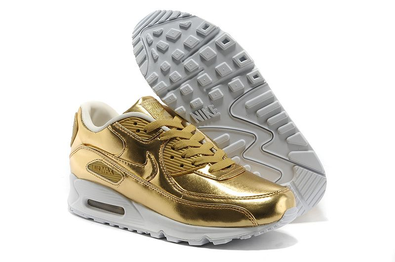 29c08368bfc5 2014 Air Max 90 Metallic Gold Mens Sneakers