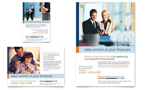 Financial Planning \ Consulting Flyer \ Ad Template Inspiration - funeral poster templates