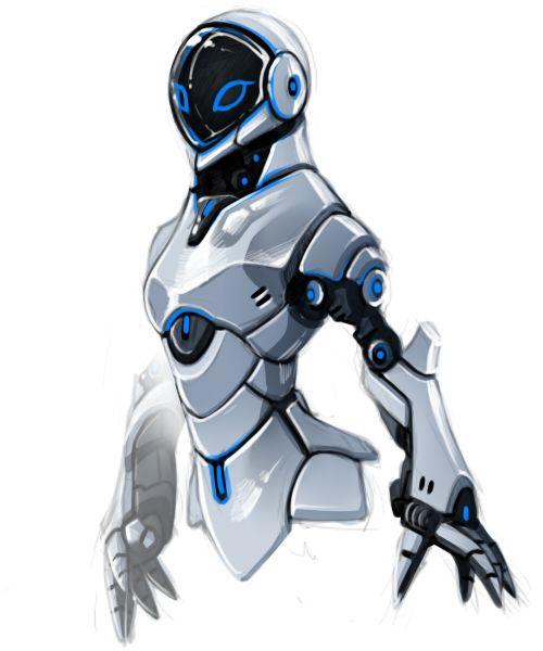 Female Robot By Yunbe Deviantart Com On Deviantart Robots Art Illustration Robot Art Robot Concept Art