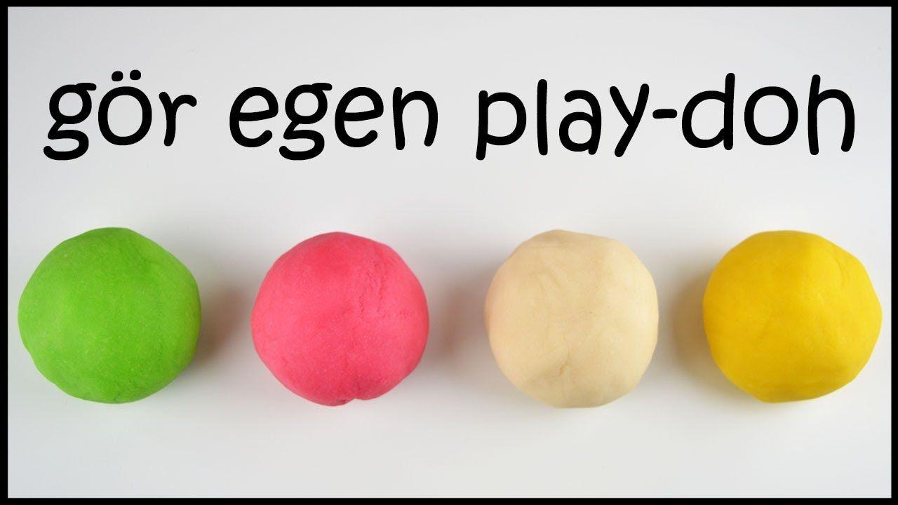 DIY play-doh lera på svenska | gör egen deg för barn