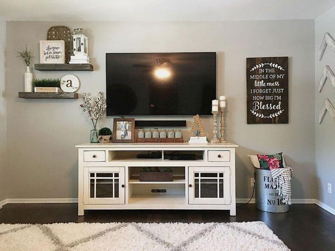 53 Adorable Tv Wall Decor Ideas Roundecor Farm House Li