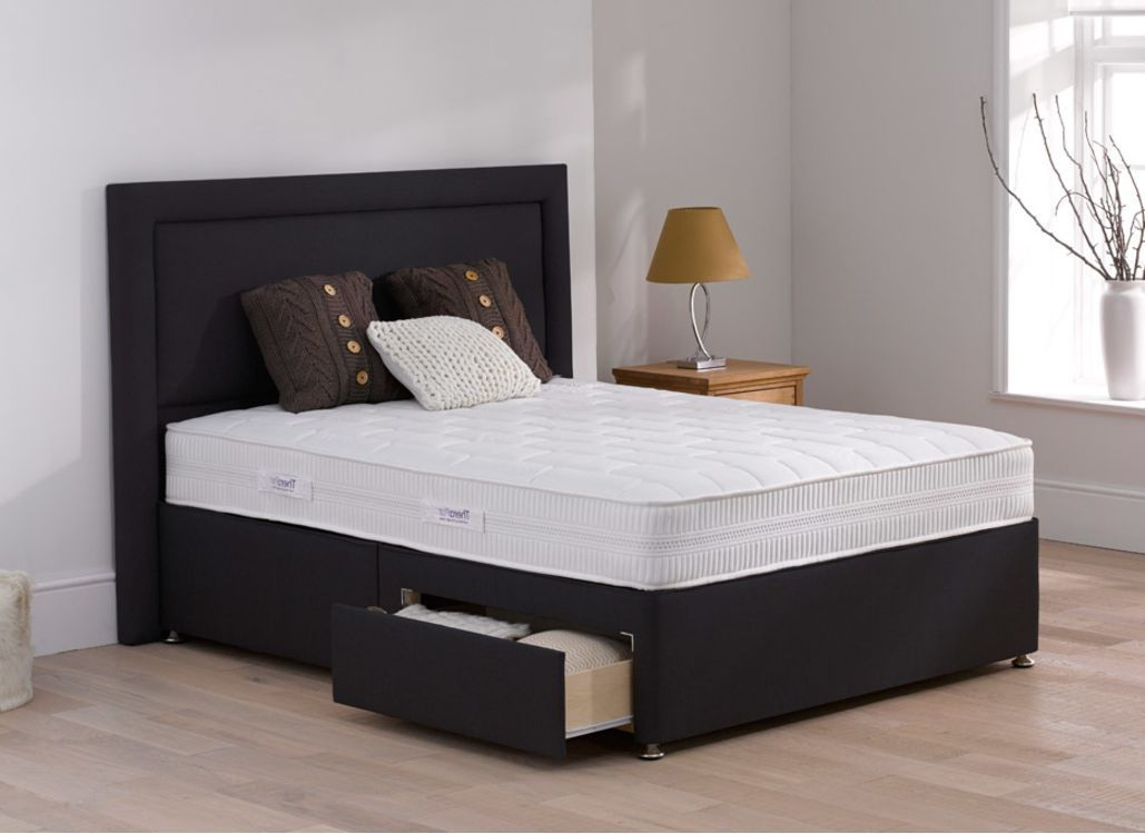 Therapur affinity divan bed medium carbon divan sets for Divan in french