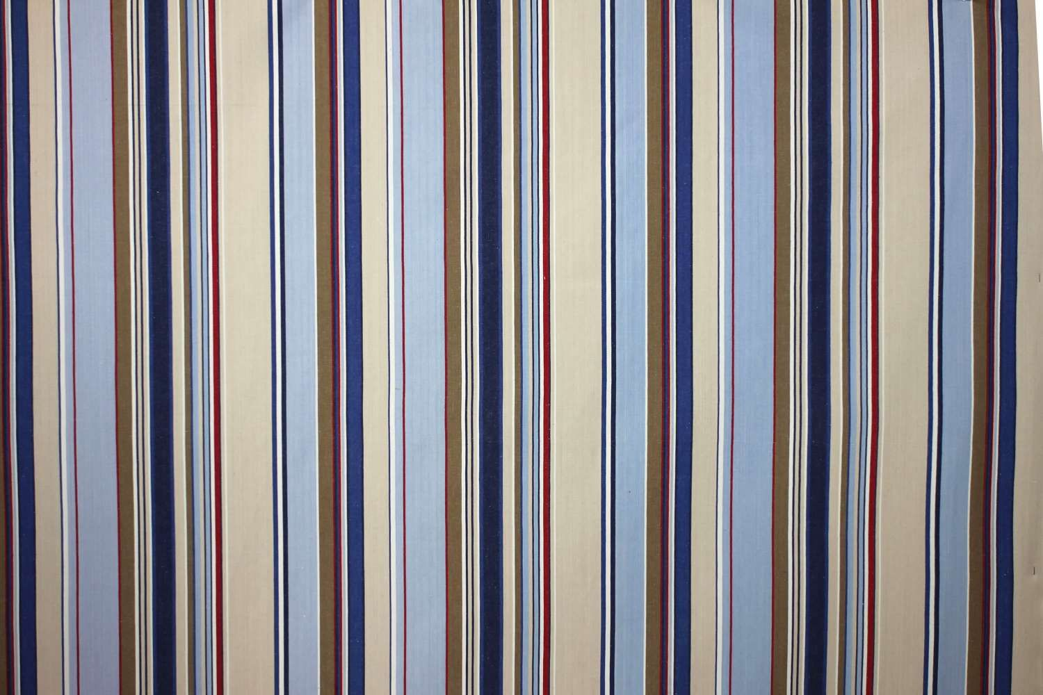 Pale Blue Striped Fabrics Curtain Upholstery Trapeze Stripes