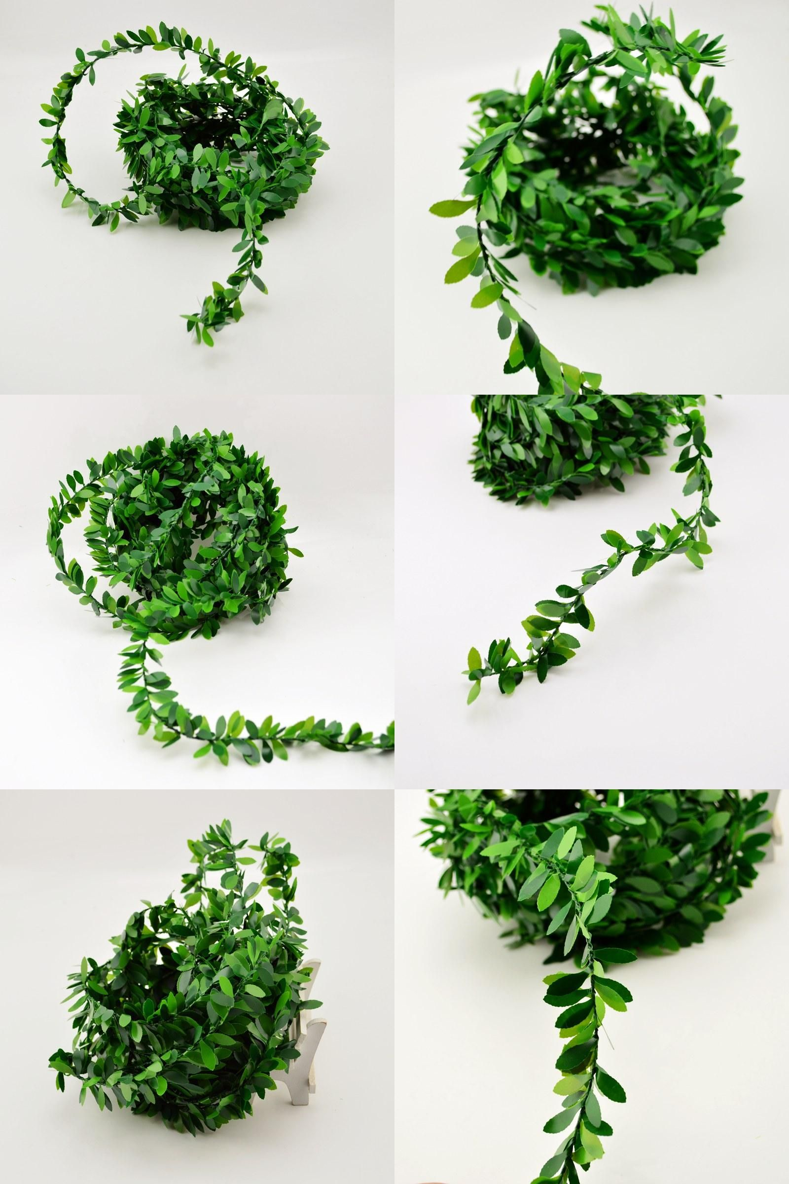Wedding vehicle decorations  Visit to Buy m artificial flowers rattan Leaf Nylon Iron Wire DIY