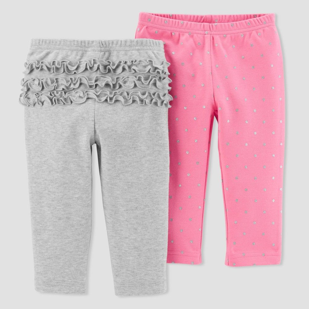 feb64620c6 Baby Girls  2pk Pants - Just One You Made by Carter s Gray Pink Glitter