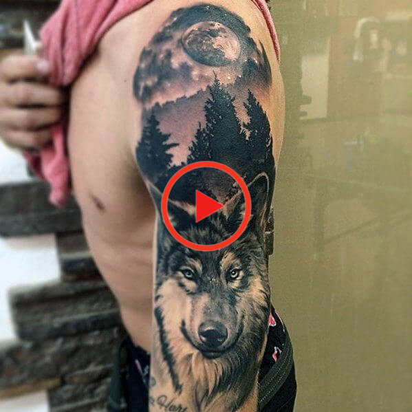 The 85 Best Wolf Tattoos For Men In 2020 Wolf Tattoos Men Full Body Tattoo Tattoos For Guys