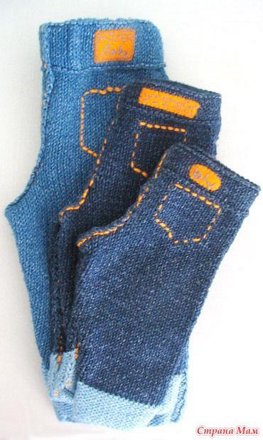 6a9c6de3124a Вязаные джинсы - Вязание - Страна Мам   Вяжем детям   Baby knitting ...