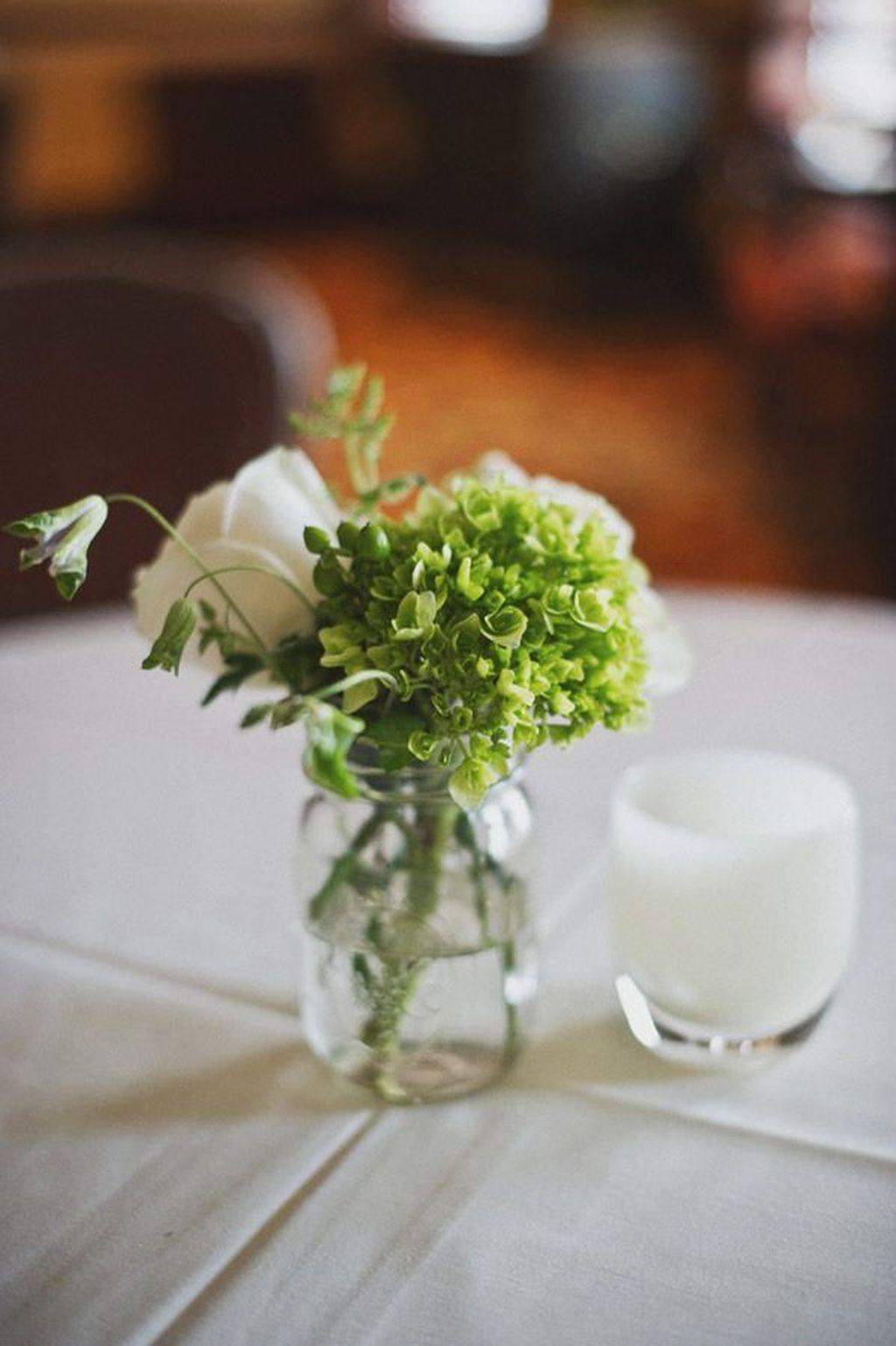 44 Beautiful Green And White Flower Arrangements Ideas