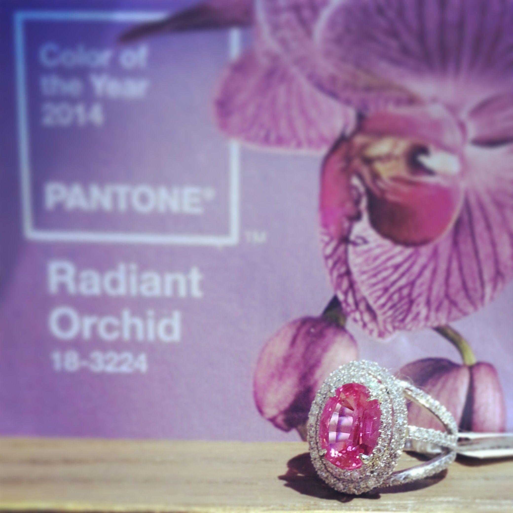 #radiantorchid #jewelry #diamond #pinktourmaline #ring #whitegold