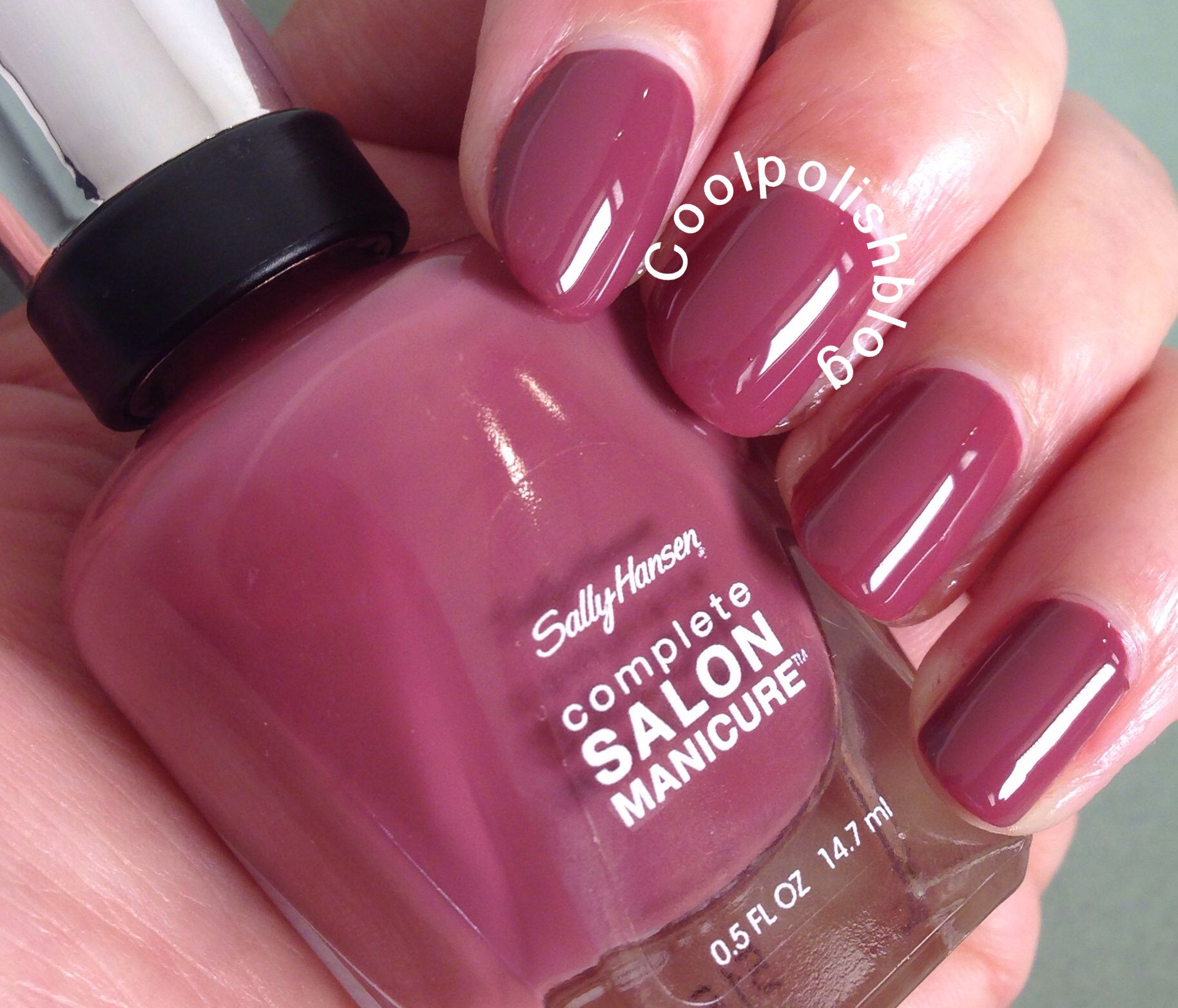 Sally Hansen | Cool Polish/Leaf Peeper-Two coats, lovely dark cream ...