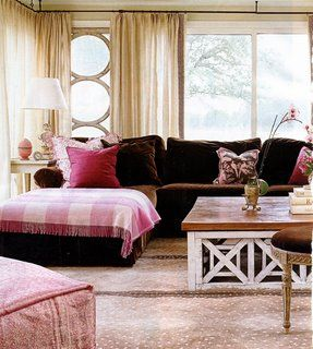 In The Pink With Images Pink Living Room Decor Brown Living Room Decor Brown Sofa Living Room