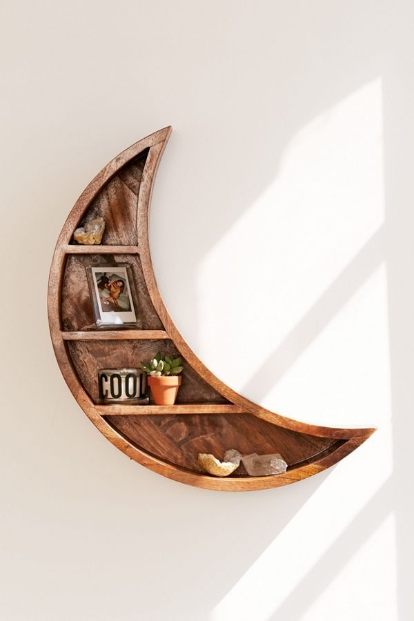 Crescent Moon Wall Shelf is part of Retro home decor - Shop Crescent Moon Wall Shelf at Urban Outfitters today  Discover more selections just like this online or instore   Shop your favorite brands and sign up for UO Rewards to receive 10% off your next purchase!