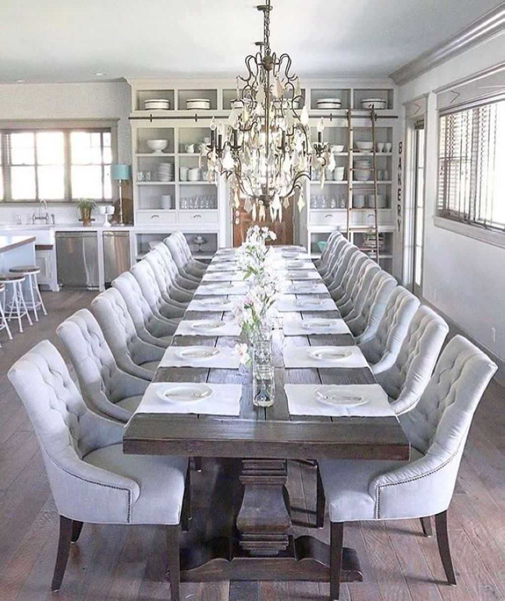 41 Best Modern Dining Room Decoration Ideas | Large dining ...
