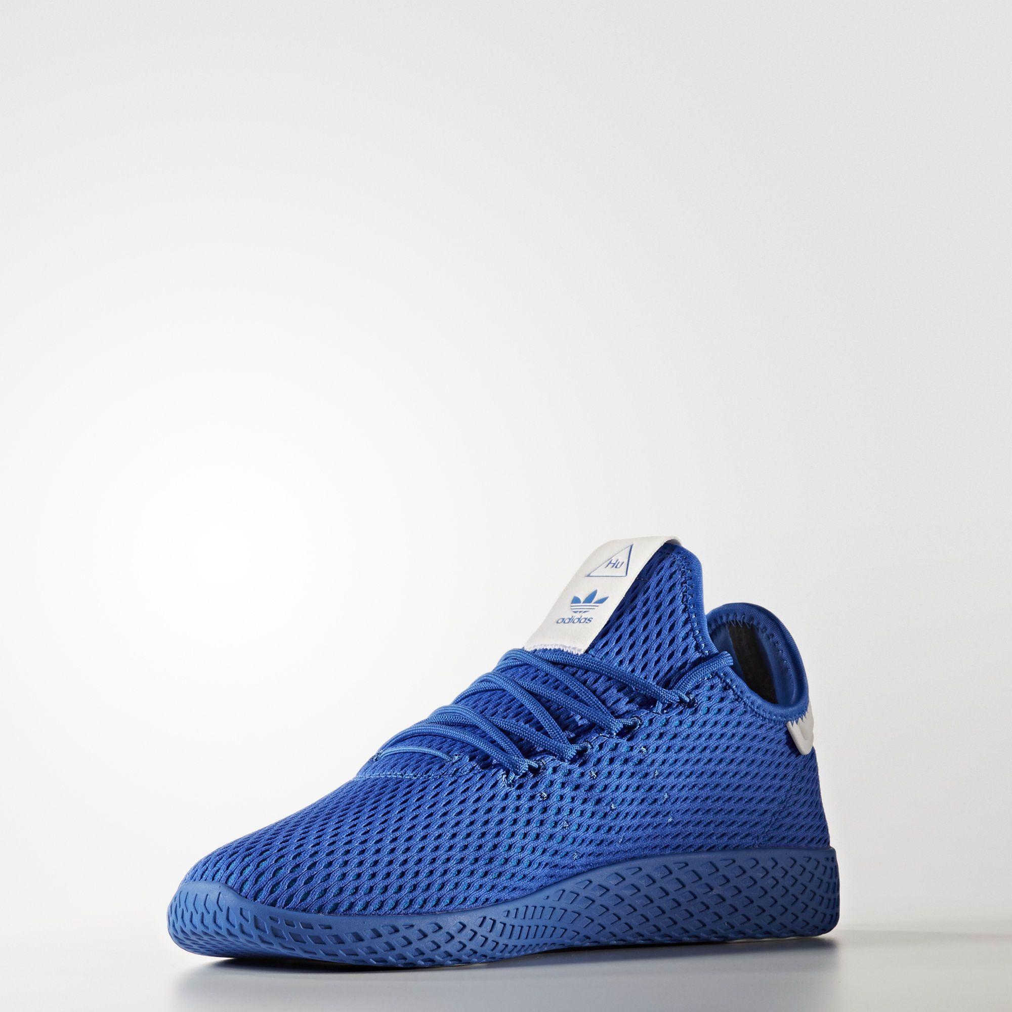falda Devastar constantemente  adidas Pharrell Williams Tennis Hu | Adidas shoes mens, Blue sneakers, Blue  adidas
