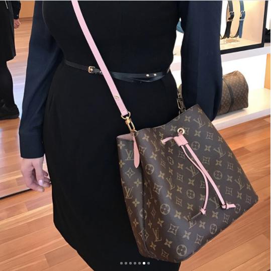 00fe0cea787d ... Shoulder Bag Tote Handbag For 2019 Women Style. Louis Vuitton Rose  Poudre Monogram Canvas Neonoe Bag 2