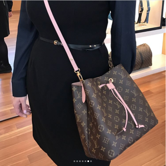 5e1f54f35280 Louis Vuitton Rose Poudre Monogram Canvas Neonoe Bag 2