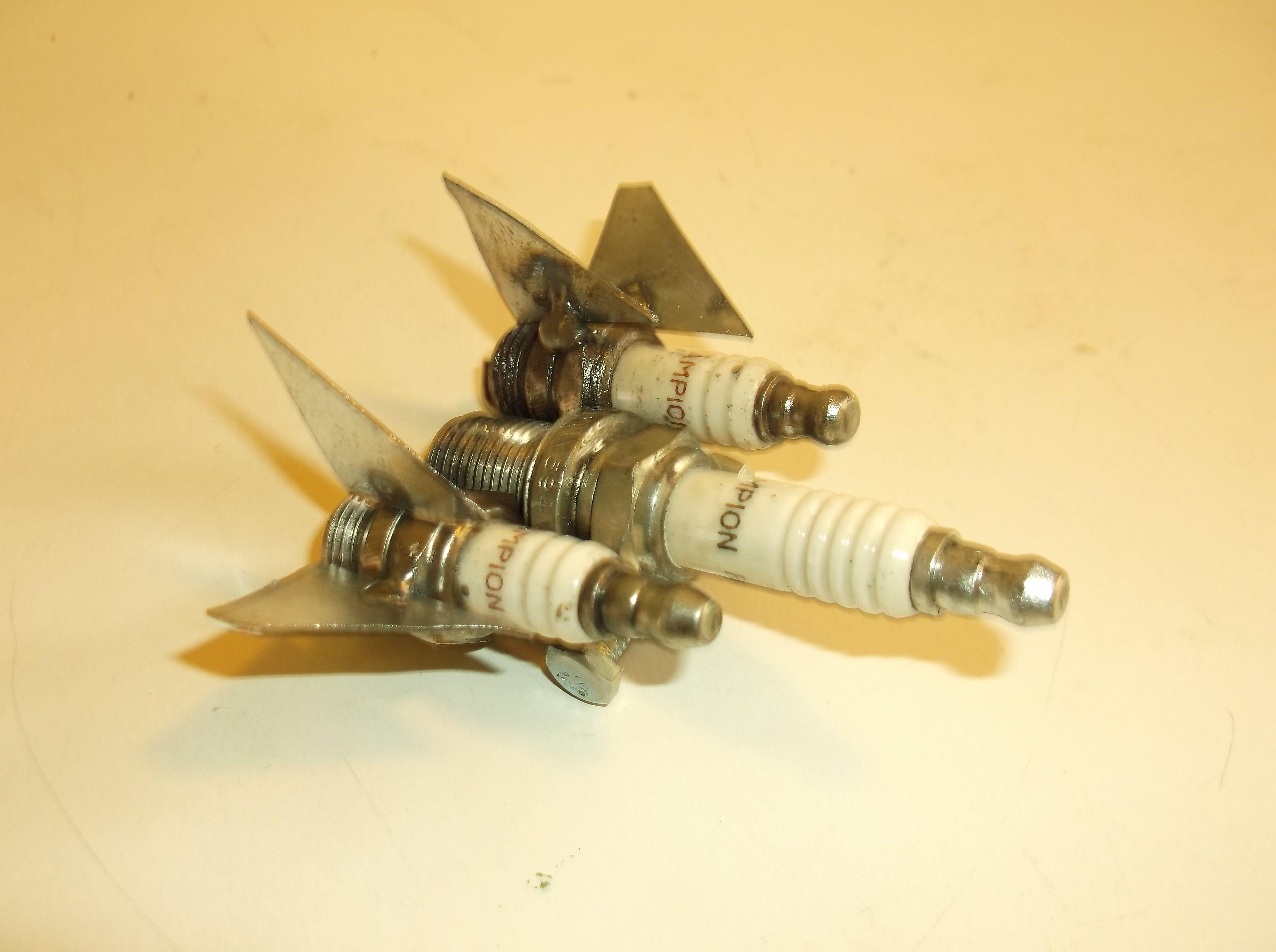Blackbird bomber, jet bomber, jet, metal jet, metal art, recycled ...