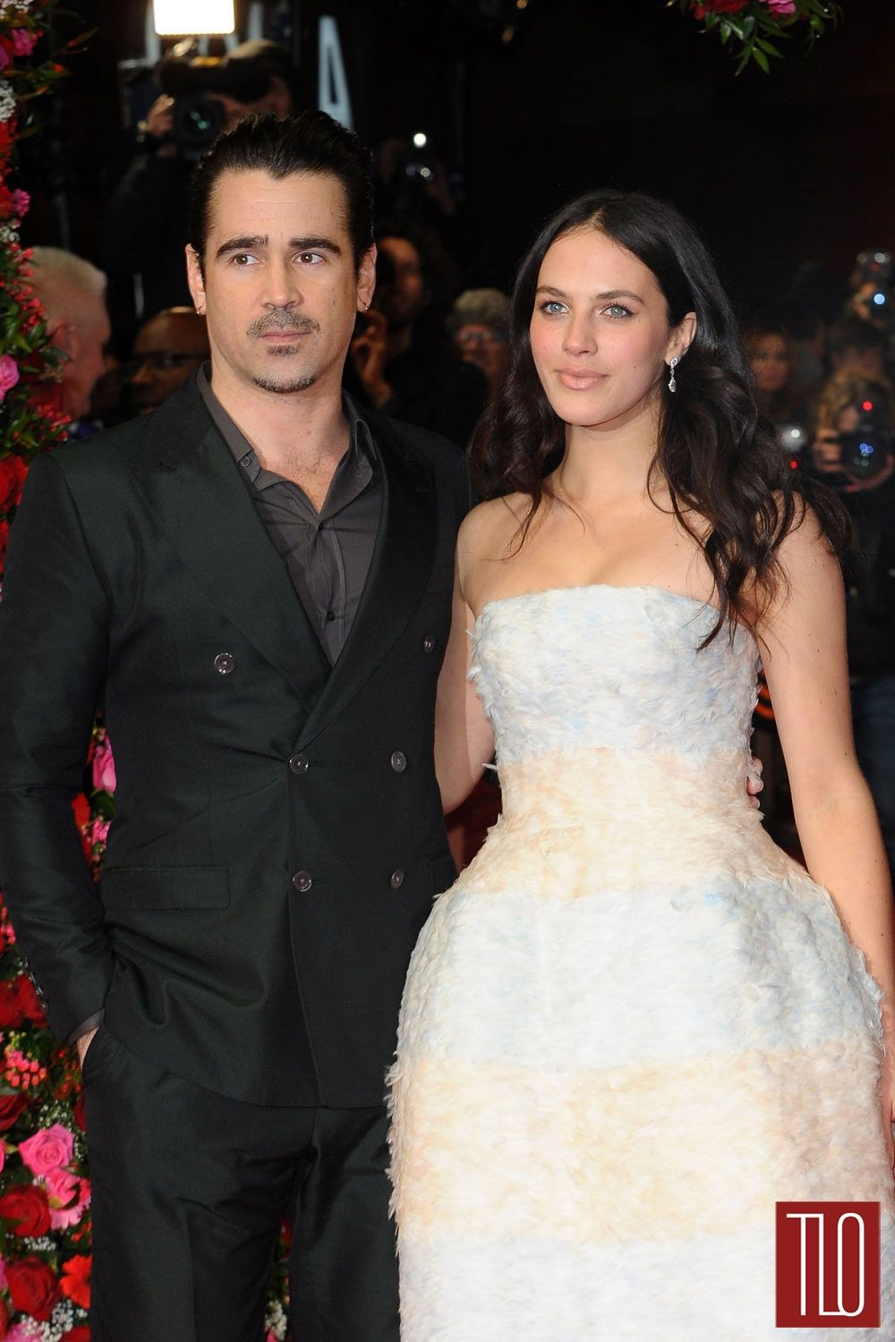 "Colin Farrell and Jessica Brown Findlay at the ""Winter's ..."