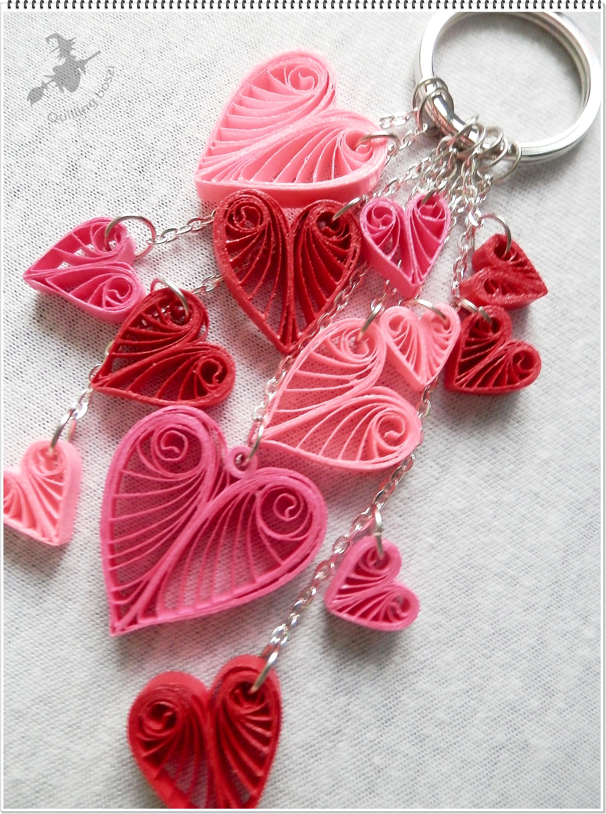 Táskadísz. | Quilling Edit Percze | Pinterest | Quilling, Key chains ...