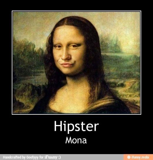 Hipster Mona