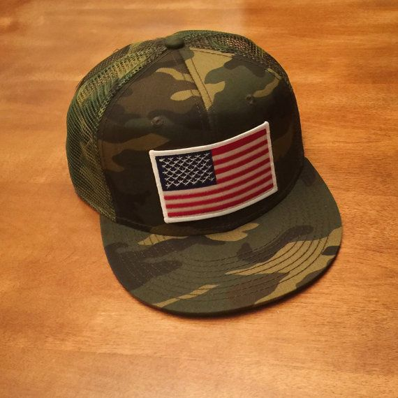 7db15c8b714 AMERICAN FLAG All CAMO Trucker Hat Snapback by RogueCitizenApparel ...