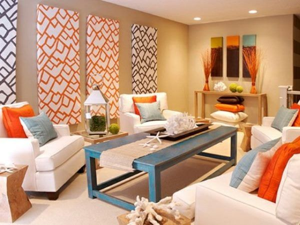 neutral accent color for minimalist house | home accents | orange
