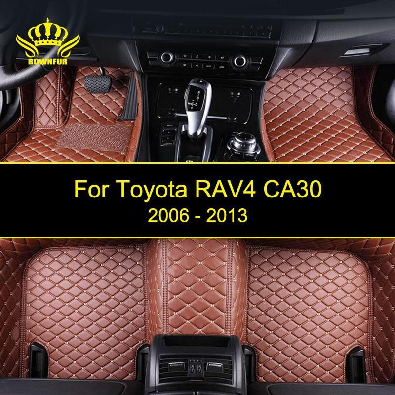 Rownfur Custom Car Floor Mats For Toyota Rav4 Ca30 High Quality Waterproof Leather Floor Mat Car Styl Custom Car Floor Mats Car Floor Mats Interior Accessories