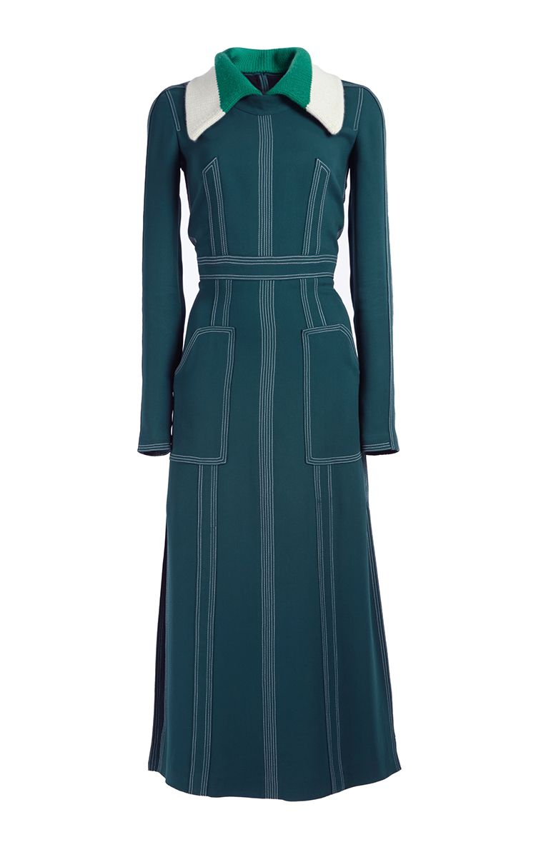 Georgette Dress With Detachable Collar by BURBERRY for Preorder on Moda Operandi