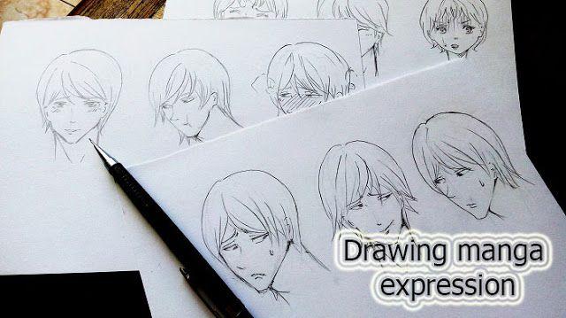 Cara Menggambar Berbagai Ekspresi Wajah Manga Belajar Manga Cara Menggambar Ekspresi Wajah Gambar