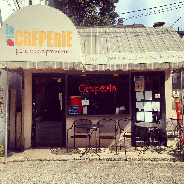 Creperie Storefront Creperie Belgian Waffles Crepes