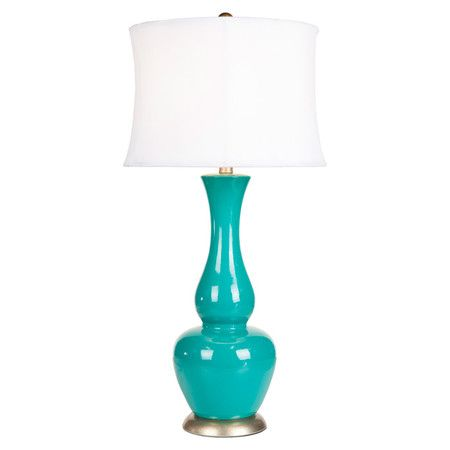 Amazing Surya Turquoise Ceramic Table Lamp Nasafi Grayce And Amazing Design