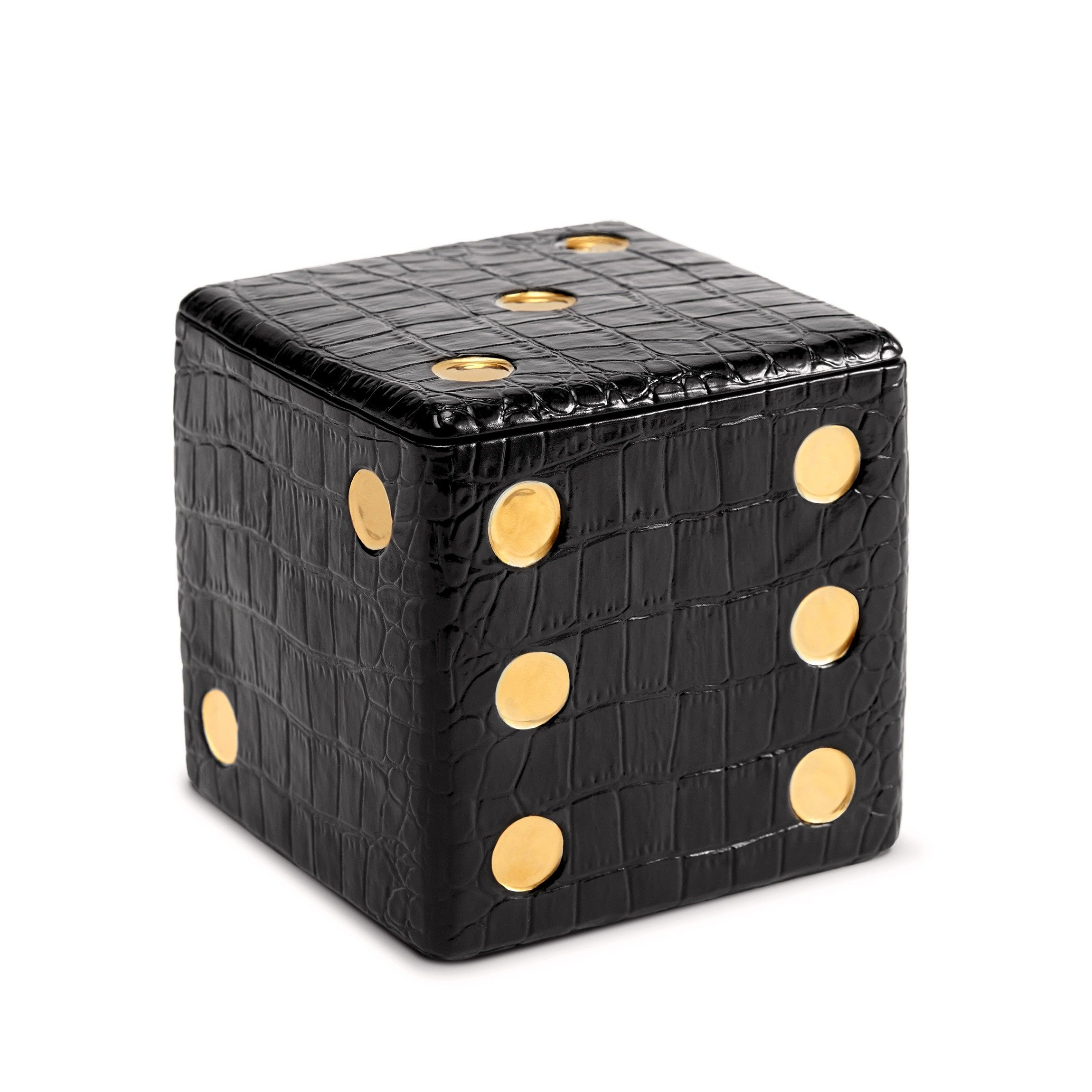 L'OBJET Dice Decorative Box Black | G130 | http://bit.ly/1pjxbPE