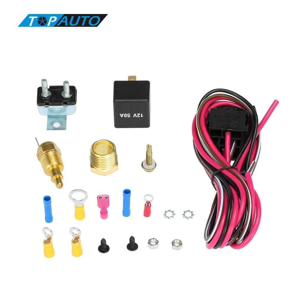 Compare Prices Car Electric Cooling Fan Wiring Cable Install Kit Complete Thermostat 200185