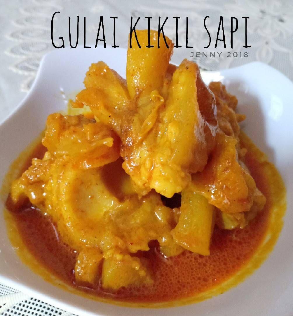 Resep Gulai Kikil Sapi Ala Rm Padang Oleh Jenny Resep Resep Masakan Masakan Gulai